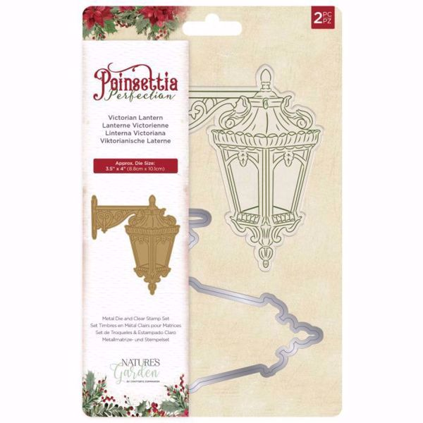 Poinsettia Perfection Victorian Lantern Stempel & Die - NG-POIP-STD-VICL