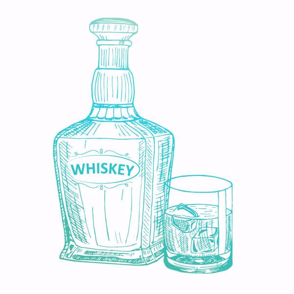 Silikonestempel fra Couture Creations - Whiskey CO726843