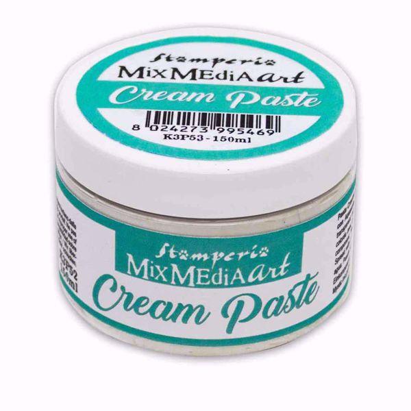 Stamperia  Cream  Paste  Hvid - K3P53