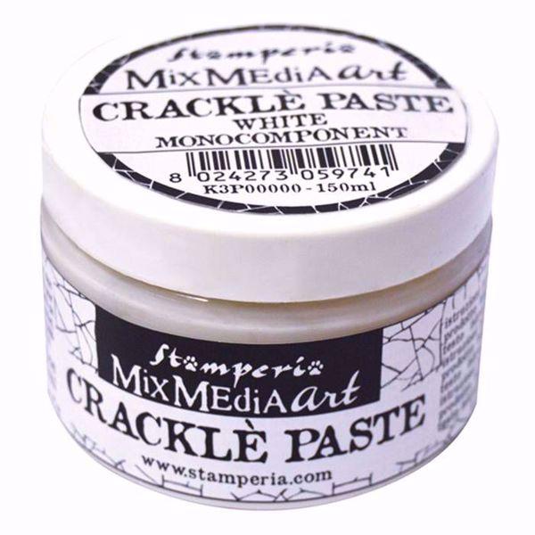 Stamperia Crackle Paste 150ml hvid Monocomponent - K3P37