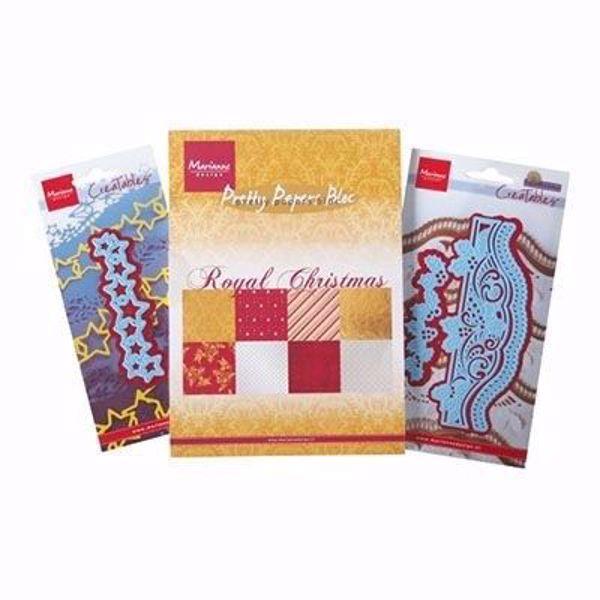 Royal Christmas & Creatables design papir pakning A5 med 3 dies til scrapbooking og kort - PA4099