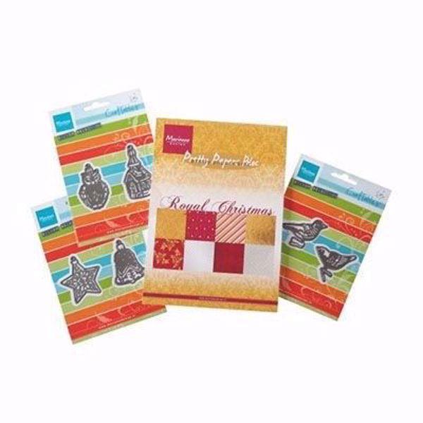 Royal Christmas & Creatables design papir pakning A5 med 6 dies til scrapbooking og kort - PA4100
