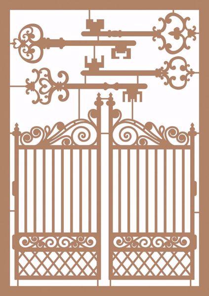 Udstandset Låge og nøgler af kraftpapir - 2503-001