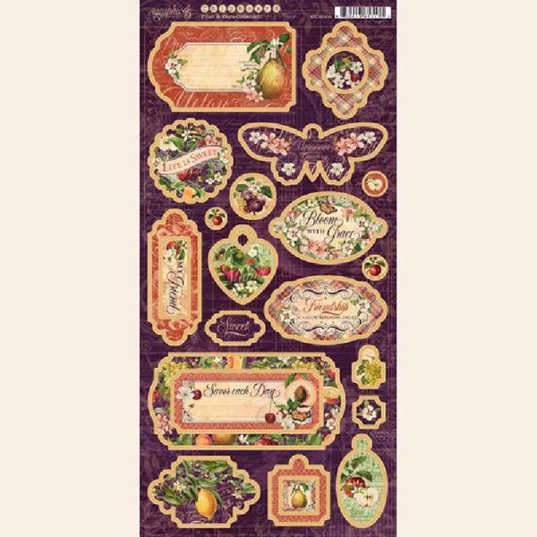Chipboard fra Graphic 45 - Fruity & Flora - 450002