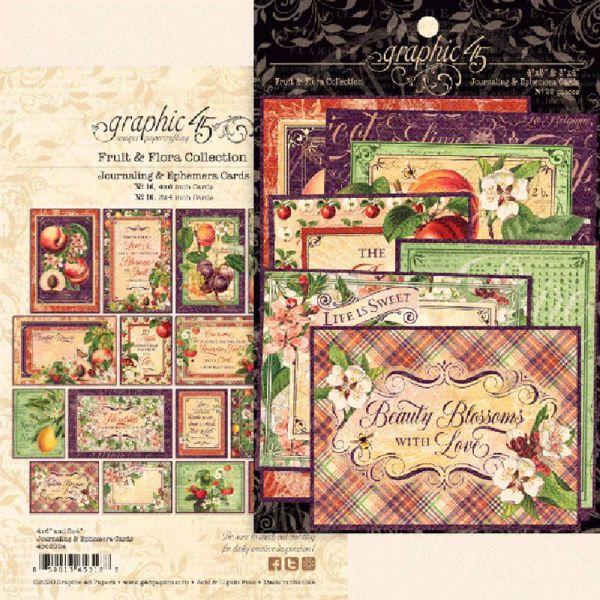 Kort i karton fra Graphic 45 - Fruit & Flora - 4502004 - Journaling & Ephemera