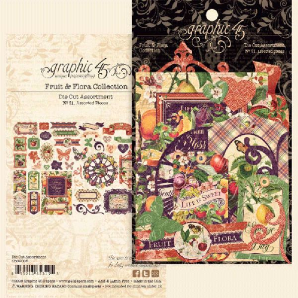 Die Cut Assortments i karton fra Graphic 45 - Fruit & Flora - 4502005