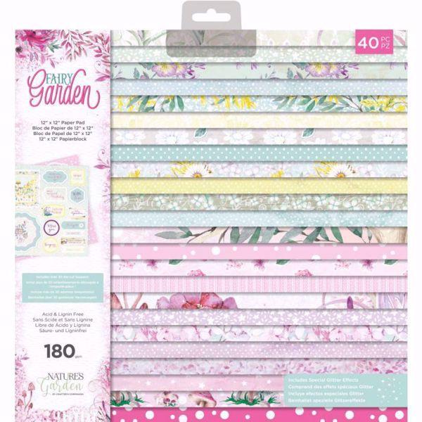 Fairy Garden design papir pakning fra Crafters Companion til scrapbooking og kort - NG-FAIRY-PAD012