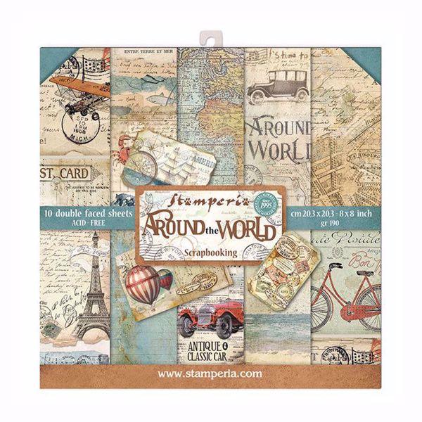 Stamperia Around the World design papir pakning til scrapbooking og kort - SBBS12