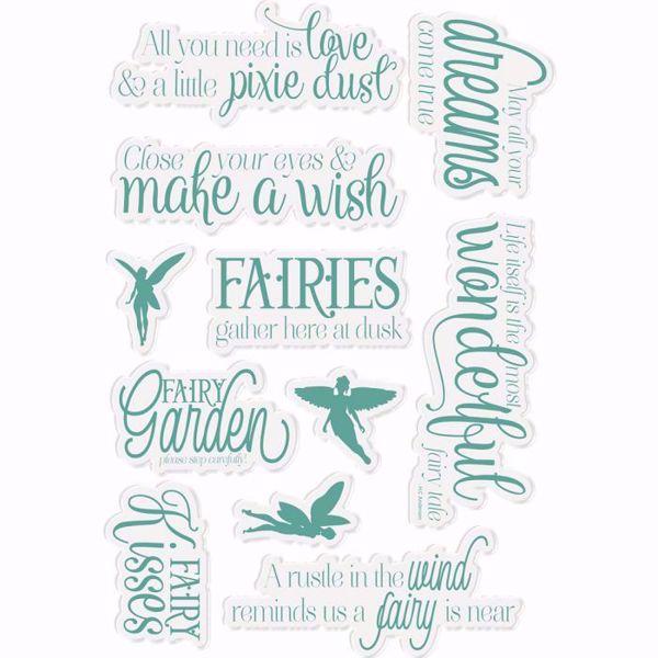 Fairy Garden Fabel silikone stempler fra Crafters Companion til scrapbooking og kort - NG-FAIRY-ST-FAFA