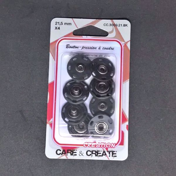 Tryk knapper Ø 2,5 mm - Sorte - CC.3009.21.BK