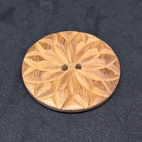 Fasetsleben knap af Mahogni fra Deknofa