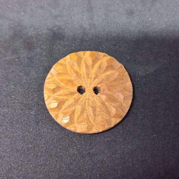 Fasetsleben knap af Mahognii fra Deknofa