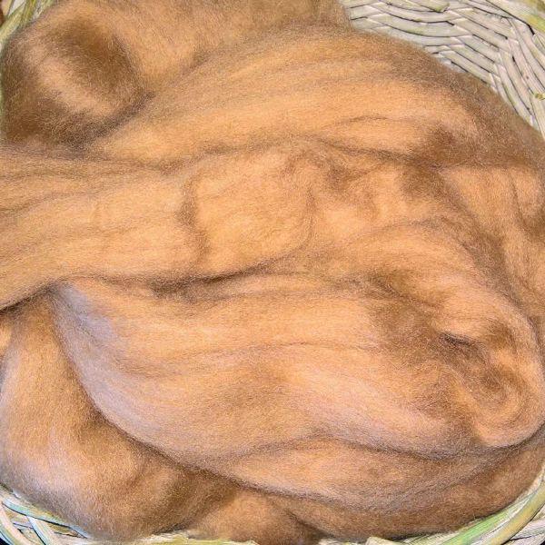 Kæmmet Baby kamel tops til spinding af luksiøst garn - Lys Brun