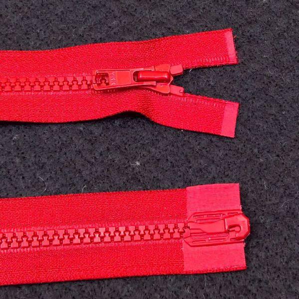 Delbare Lynlåse fra YKK - Plast 6 mm - Rød