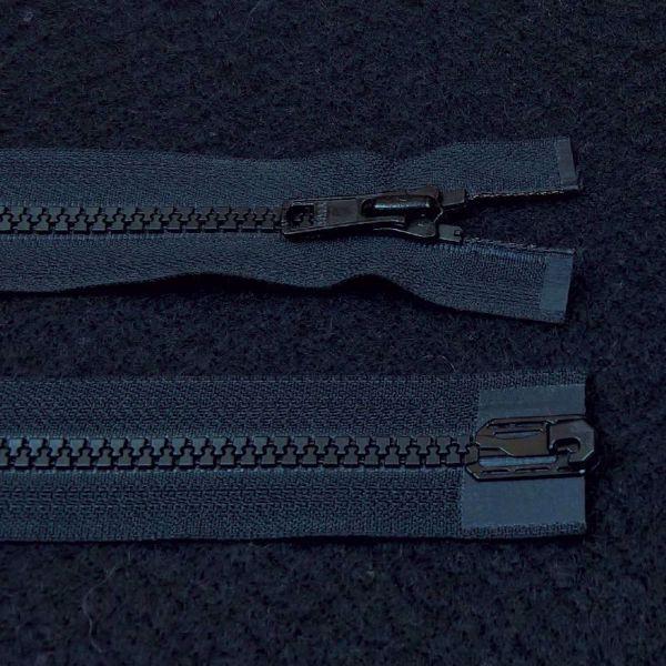 Delbare Lynlåse fra YKK - Plast 6 mm - Sort