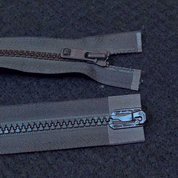 Delbare Lynlåse fra YKK - Plast 6 mm - Mørk Chokolade