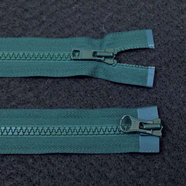 Dobbelt  Lynlåse fra YKK - Plast 6 mm - Flaskegrøn