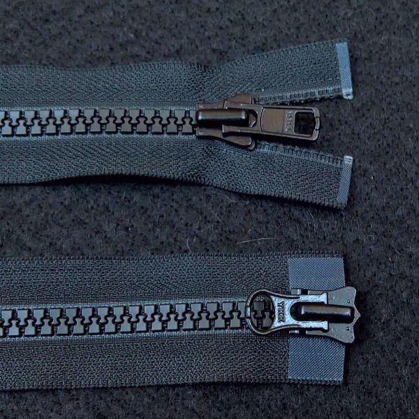 Dobbelt  Lynlåse fra YKK - Plast 6 mm - Sort