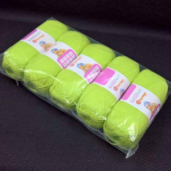 Pakkesalg 5 ngl Baby Soft  Garn - Æblegrøn 439