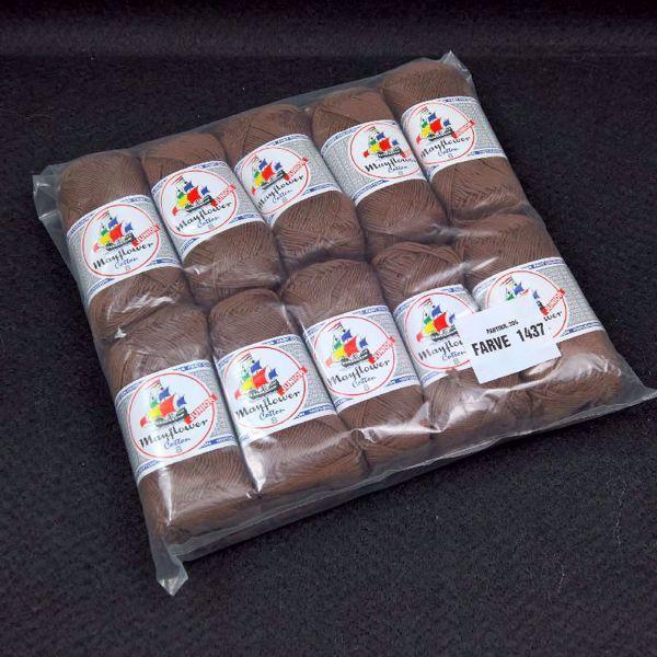 Pakkesalg 10 ngl Junior Cotton 8 - Rødbrun 1437