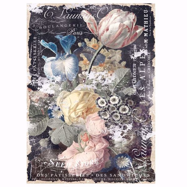 Re-Design with Prima - Bridgette - 48,3 x 76,2 cm Mulberry Tissue Paper til decoupage scrapbooking og kort - 644659