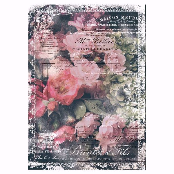 Re-Design with Prima - Celeste - 48,3 x 76,2 cm Mulberry Tissue Paper til decoupage scrapbooking og kort - 644642