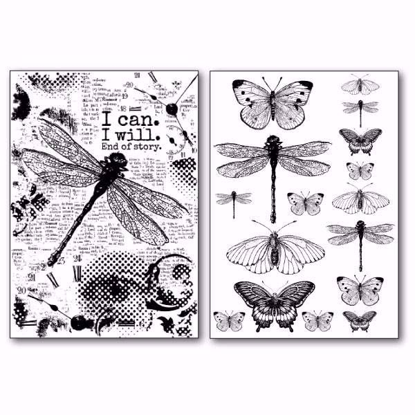 Stamperia Transfer Paper A4 Dragonfly (DFTR063)