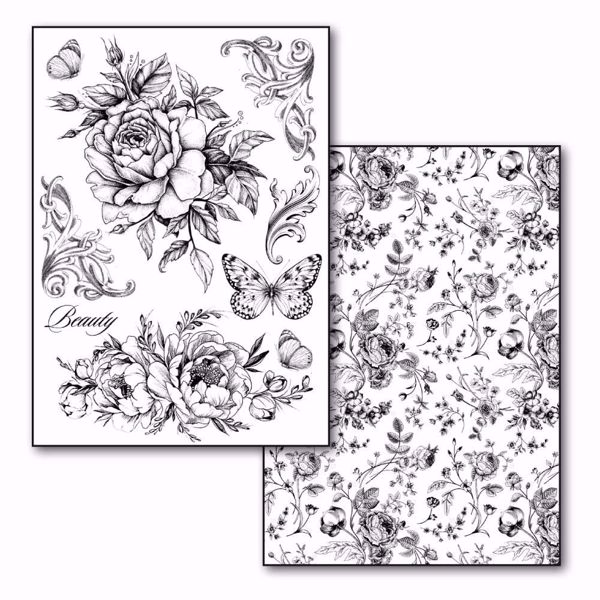 Stamperia Transfer Paper A4 Roses and Butterlies (DFTR081)