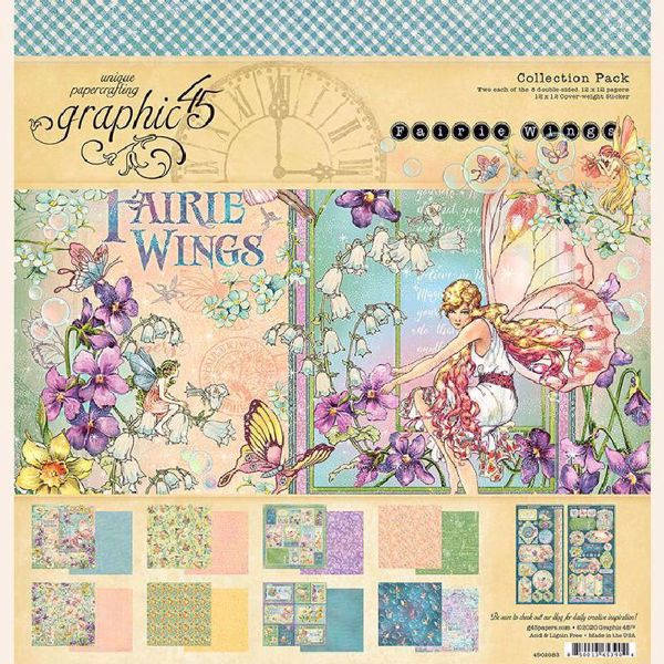 Papir blok 12x12 fra Graphic 45 - Fairie Wings - 4502083