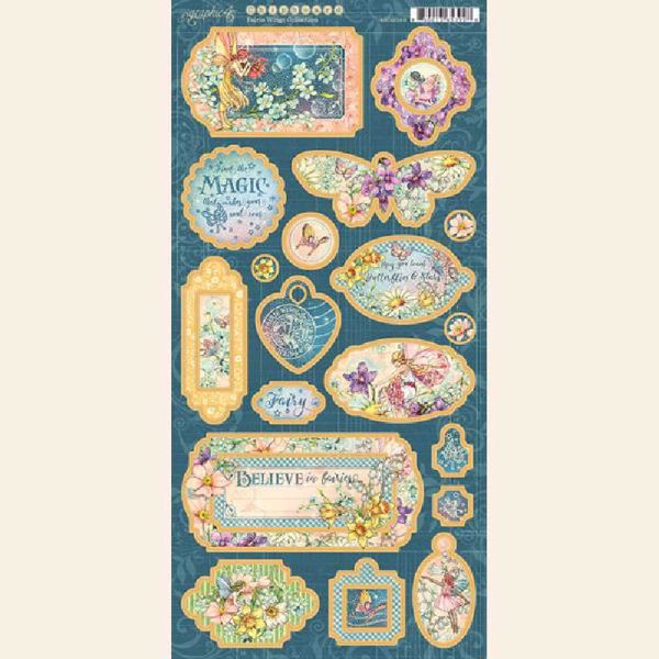 Chipboard fra Graphic 45 - Fairie Wings - 450085