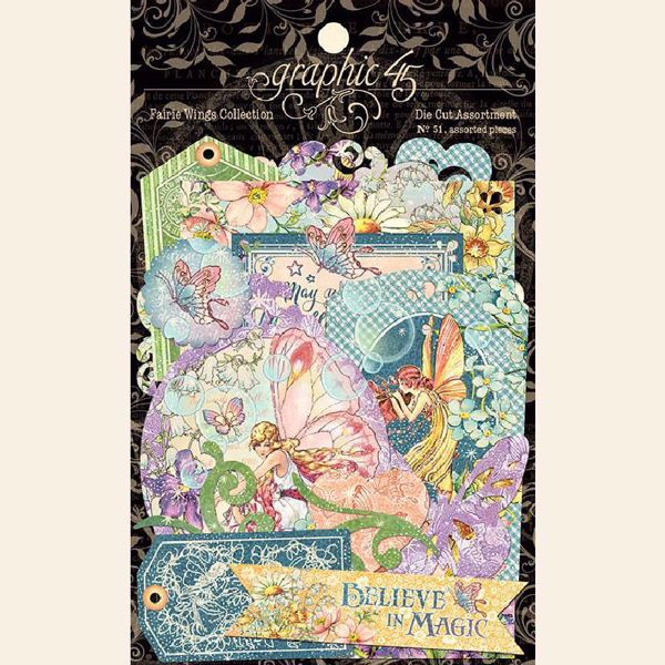 Die Cut Assortments i karton fra Graphic 45 - Fairie Wings - 4502088