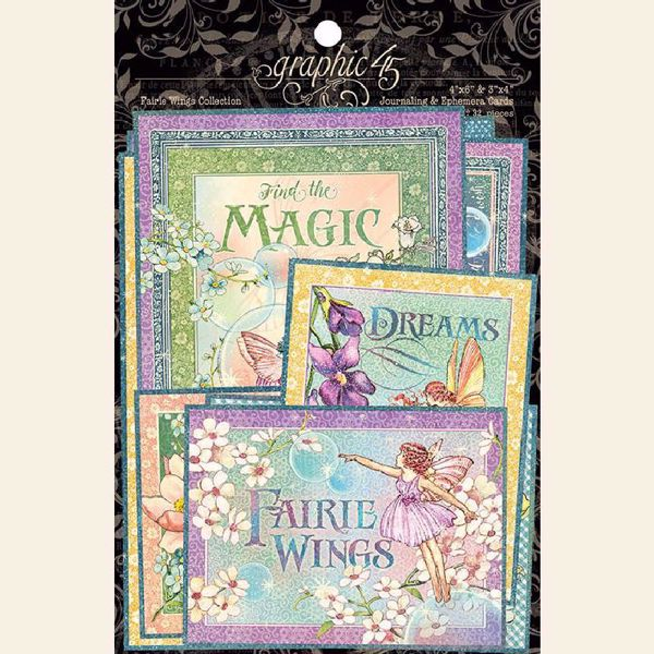 Kort i karton fra Graphic 45 - Fairie Wings - 4502087 - Journaling & Ephemera