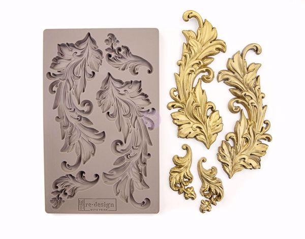 Re-Design with Prima Baroque Swirls silikone Form - 635725