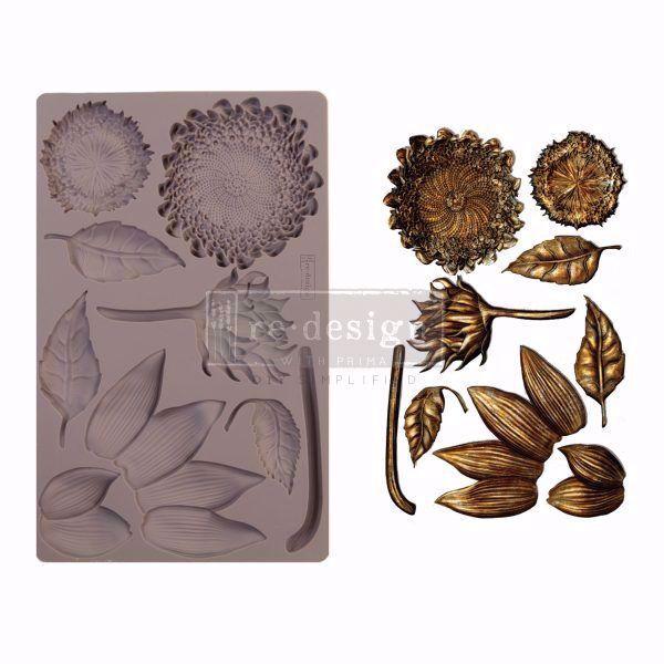 Re-Design with Prima Forest Treasures - Solsikker - silikone Form - 641061