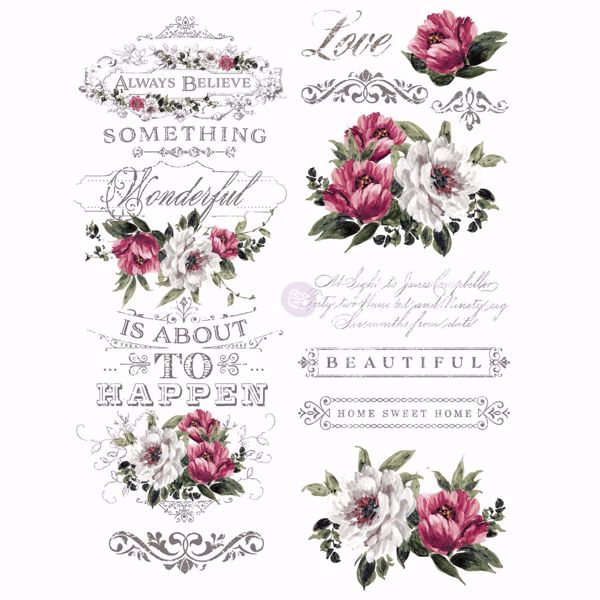 Re-design with Prima - Hopeful Wishes 55 x 76 cm Decor Transfer - 636906