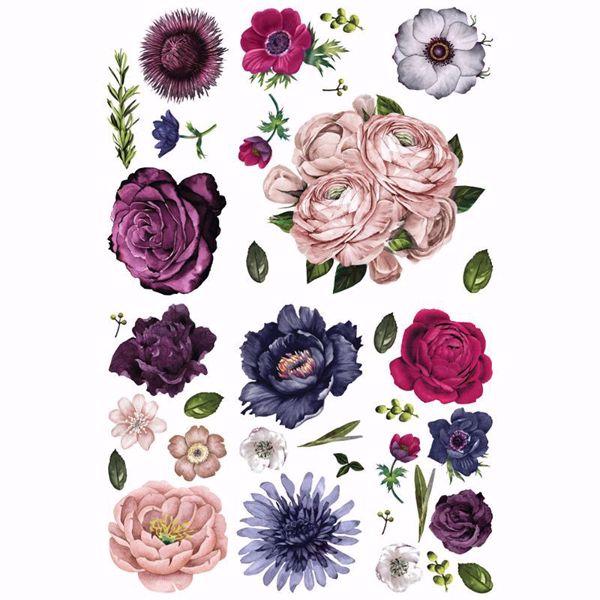 Re-design with Prima - Lush Floral II - 120 x 80 cm Decor Transfer - 644222