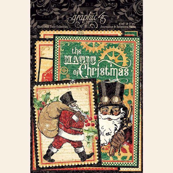 Kort i karton fra Graphic 45 - Christmas Time - 4502123 - Journaling & Ephemera