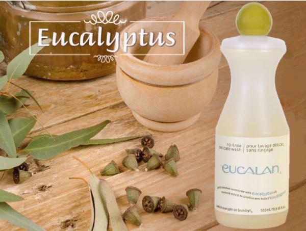 Flydende uldsæbe til vask af uld, silke og finere bomuld - Eucalan med lanolin og eucalyptus