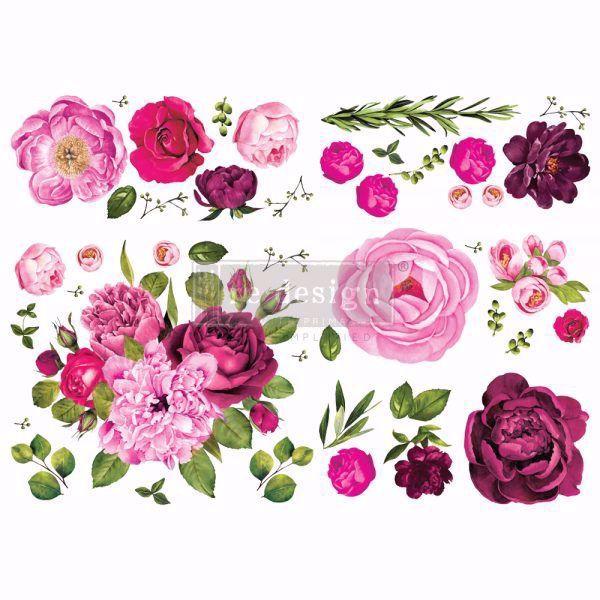 Re-design with Prima - Lush Floral I - 120 x 88 cm Decor Transfer - 644215