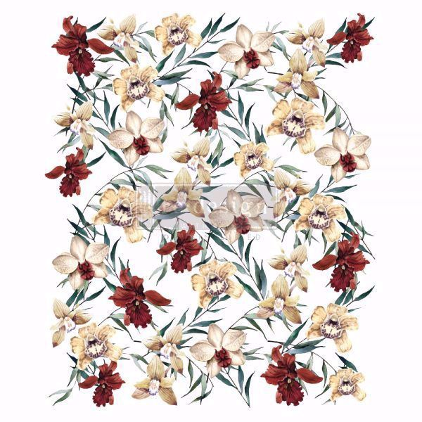 Re-design with Prima - Wildflowers - Orkideer 60 x 88 cm Decor Transfer - 646387