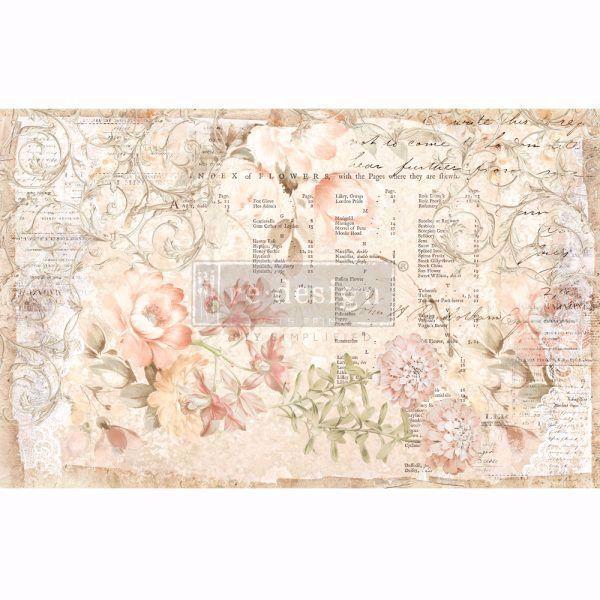 Découpage Décor Tissue Paper - Floral Parchment til decoupage scrapbooking og kort - 647469