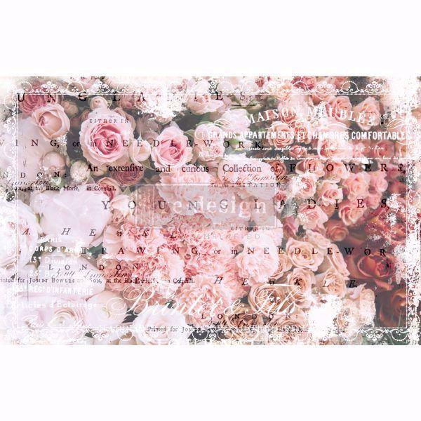Découpage Décor Tissue Paper - Angelic Rose Garden til decoupage scrapbooking og kort - 649401