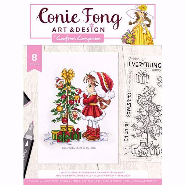 Sally's Christmas friends Stempel sæt fra Crafters Companion til scrapbooking og kort - CF-STP-SALCF