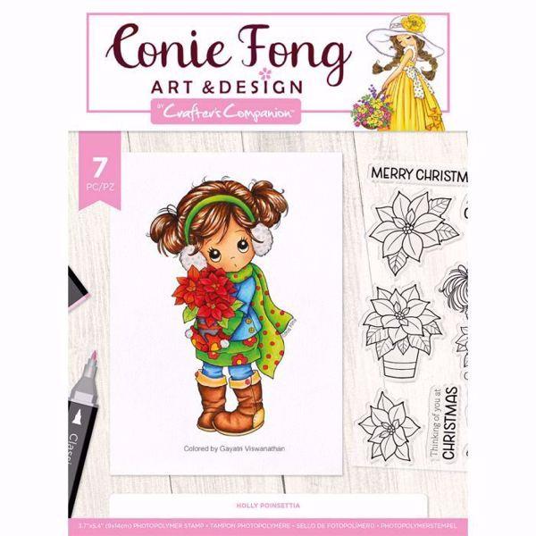 Holly Poinsettias Stempel sæt fra Crafters Companion til scrapbooking og kort - CF-STP-HOLPO