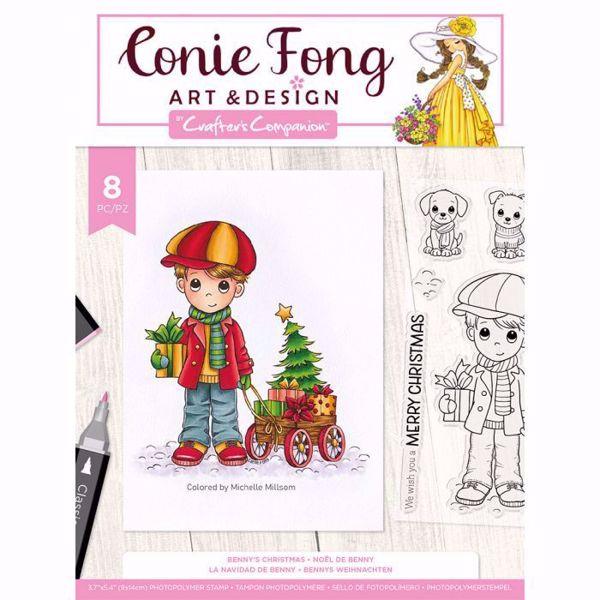 Benny's Christmas Stempel sæt fra Crafters Companion til scrapbooking og kort - CF-STP-BENCH
