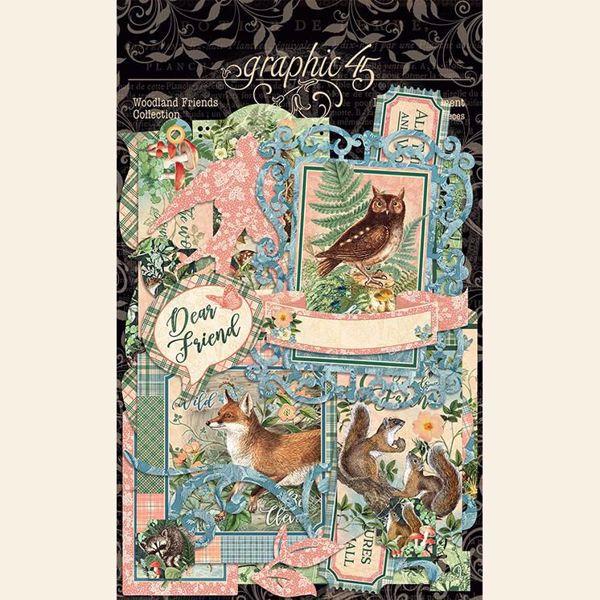 Die Cut Assortments i karton fra Graphic 45 - Woodland Friendss - 4502140