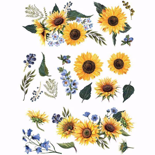 Re-design with Prima - Sunflower Fields  63 x 80 cm Decor Transfer - 644840