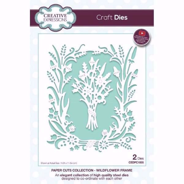 Paper Cuts Collection - Wildflower Frame - CEDPC1005 fra Creative Expression