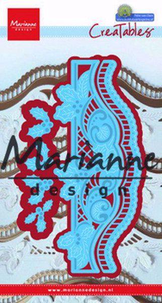 Marianne Design Petra`s Christmas Borders dies standsejern til scrapbooking og kort - LR0488