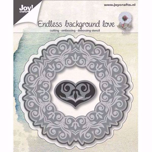 Endless background love - die 6002/0644  standsejern til scrapbooking og kort fra Joy Crafts